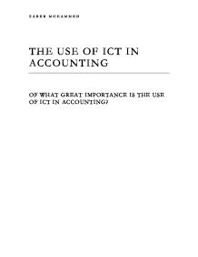 The use of ICT in accounting