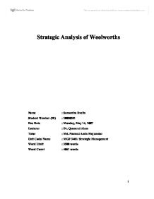 business level strategic analysis
