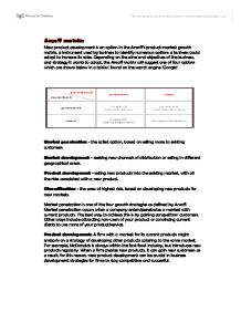 Ansoff and Boston Matrix - A-Level Business Studies - Marked