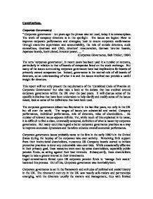governance structures in nursing essay