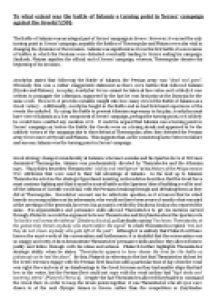 Essay on battle of salamis