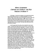 Descriptive essay theater
