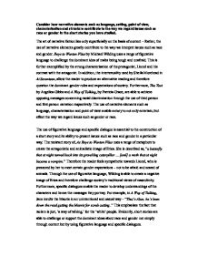 Best English Essays Page  Zoom In How To Write A Synthesis Essay also What Is The Thesis Of An Essay Short Stories Essay  Alevel English  Marked By Teacherscom Definition Essay Paper
