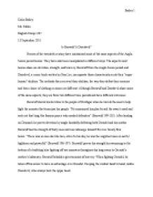 argumentative essay beowulf