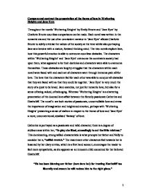 comparsion of jane eyre and wuthering heights a level english  page 1 zoom in