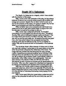 Death of a salesman essays biff