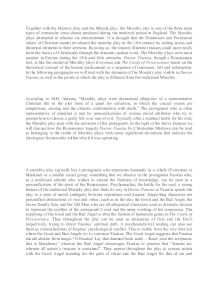 everyman and doctor faustus essay Doctor faustus is the most famous play of christopher marlowe he was of high skilled as a playwright and he could write very good drama - doctor faustus as a tragic hero essay introduction it is a tragedy of doctor faustus that is the main point of this story.