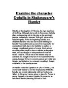 a character analysis of ophelia in hamlet by william shakespeare This one-page guide includes a plot summary and brief analysis of hamlet by william shakespeare hamlet summary ophelia loves hamlet.