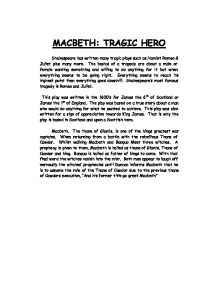 Tragic hero essay