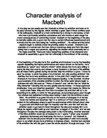 Macbeth character analysis essay « Amanda Jimeno