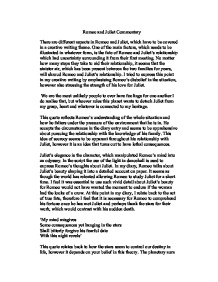 romeo and juliet commentary essay Summary of romeo and juliet by william shakespeare short biography this is a short biography of william shakespeare it includes the major facts about his life and work.