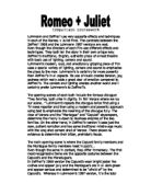 a comparison of two versions of the shakespearean play Romeo and juliet movie comparison paper by: shelby campbell romeo and juliet is a tragic play written by the very famous william shakespeare it tells the story of two star-crossed lovers as they try to find a place in the world together without dealing with the wrath of heir families' rivalry.