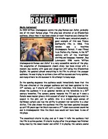 an analysis of the 1968 franco zefferellis directed film version of romeo and juliet The 10 greatest productions of romeo and juliet of  franco zeffirelli, 1968  rupert goold directed a version of romeo and juliet.