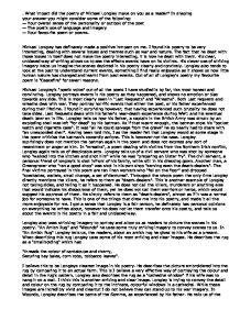 michael longley essay