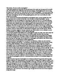 remember it s a sin to kill a mockingbird a level english  page 1 zoom in