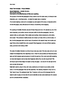 prose criticism of chuck palahniuk invisible monsters a level page 1 zoom in