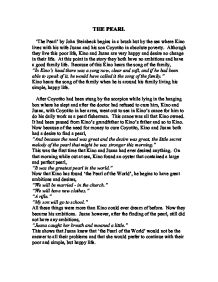 Essay on the pearl by john steinbeck