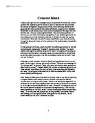 compare and contrast poverty and wealth in in cold blood and  comparison and commentary on themes in treasure island compared to crescent island