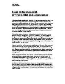 essays on technology and social change Country that has limited access to technology and information social change is sometimes intentional but often unplanned social movements and change.