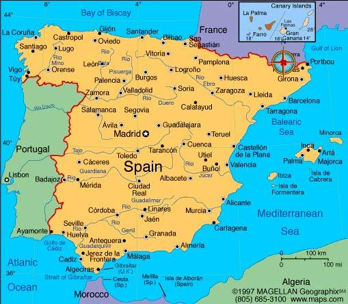 Report on Spain and the tourist attractions of Murcia ALevel – Spain Tourist Attractions Map
