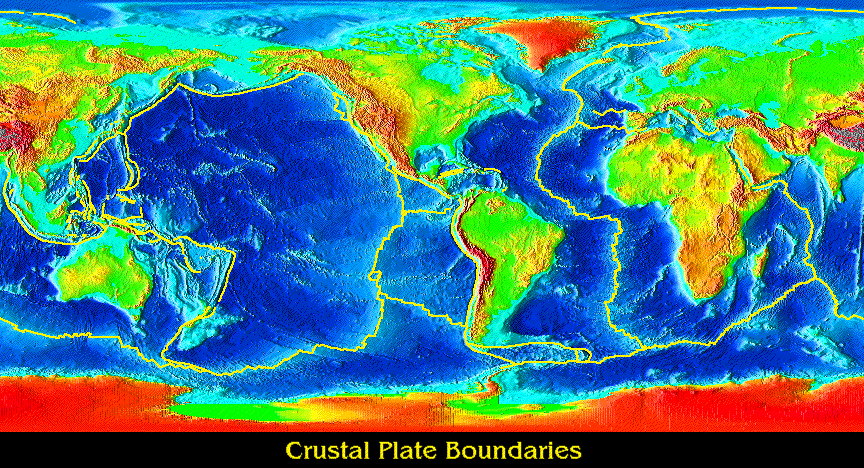 Plate Tectonics ALevel Geography Marked By Teacherscom - Pate boundaries off the coasts us map