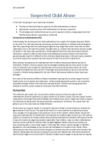 essays on child abuse and neglect