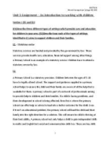 unit 1 an introduction to working with children essay Literary essay: grade 4 writing unit 5  children find ways to connect even when grown-ups are trying  write the essay the class has been working on.