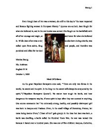 Joan of arc essay introduction