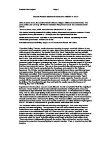 why america withdrew from vietnam essay This is an essay i've just found that i did for my gcse history it outlines the usa's involvement in vietnam i achieved an a grade in it question 1: explain why the united states became increasingly involved in the war in vietnam the war in vietnam was a conflict that started in the 1950s and.