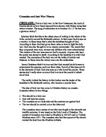 crusades and just war theory a level history marked by  page 1 zoom in