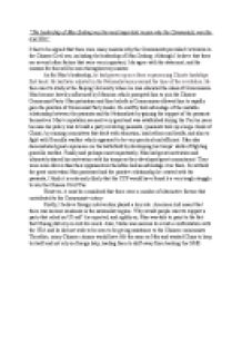 mao was the most important reason why the communists won the civil war essay The reasons communists won the civil war from  essay on why the bolsheviks won the civil war - why the  was indeed a good war and the most important,.
