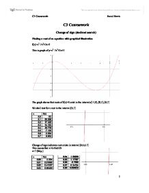 mei maths c3 coursework example