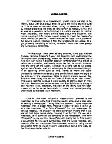 😊 Critical analysis of newspaper article  Free article