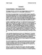 english language a level coursework commentary - Wunderlist