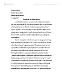The un and iraq essay