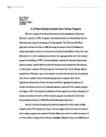 Essay on iranian nuclear program