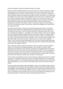 multi store model of memory essay