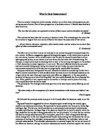 Social determinism essay