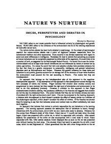 nature vs nurture issues perspectives and debates in psychology  page 1 zoom in
