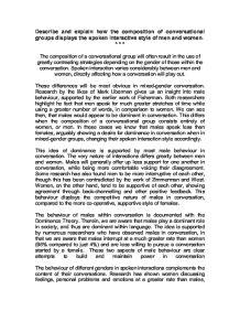 Essay on conversation in social psychology
