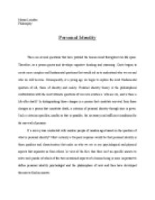 personal identity and mind essay The task of personal identity is to define a quality of a human, which makes him or her a unique self emotions like remorse and pride presuppose a personal identity.