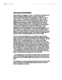 what is meant by meta ethics 2 essay