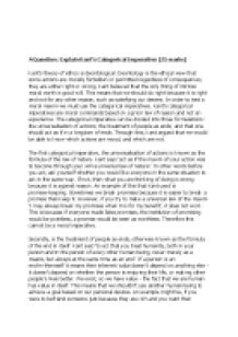 Philosophy Essay Kant Categorical Imperatives