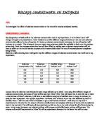 Enzyme Lab Conclusion