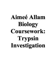 biology coursework the effect of trypsin