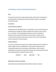 standardizing a sodium hydroxide solution essay