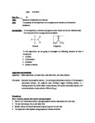 an experiment to determine the reactions of aldehydes and ketones Experiment 8: aldehydes and ketones laboratory apparatus used 1water bath 2test tube 3test tube rack 4test tube holder 5graduated cylinder 6bunsen burner 7iron ring and iron stand 8watch glass i physical properties ii preparation and test of hcho iii chemical properties a test for hcho.