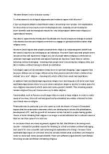 Sociology secular society essay