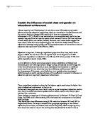 academic achievement essay  analitical essayexplain the influence of social class and gender on educational achievement