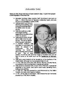 the life and work of salvador dali gcse art marked by teachers com page 1 zoom in essay